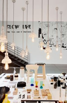 """Buffet de Granny"" Lights by THE GENTLE FACTORY #slowlife, Keep Cool Life is beautiful #mercishopparis #thegentlefactory"