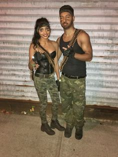 GI Joe & GI Jane couple costumes perfect for Halloween!