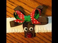 Reindeer hair bow/clip tutorial *Christmas design idea