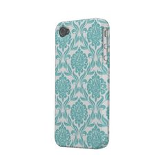 Aqua Damask Pattern Case-mate iPhone 4 and iPhone 4S Case