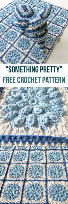 Something Pretty [Free Crochet Pattern] Adorable crochet pattern & stunning crochet blanket @Claire-clutterbug #crochet #blanket #crochetlove