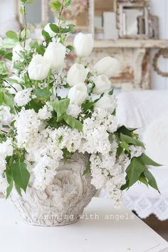 laughing with angels: snowballs in June beautiful cottage photography