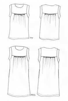 Alice Dress/Top – this smock style top/dress features a self lined yoke bodice with sh. Clothing Patterns, Dress Patterns, Sewing Patterns, Sewing Clothes, Diy Clothes, Baby Sewing Projects, Fabric Online, Top Pattern, Dressmaking