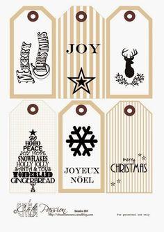 Otra nueva entrega de etiquetas de Navidad  Espero que las esteis usando   Enlace:   http://chezmamoune.canalblog.com/