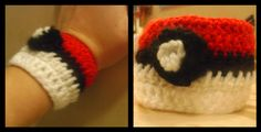 pokemon crochet wristband