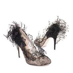 Valentino Lace Heels... So delicate. So beautiful.