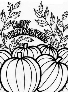 Canada Thanksgiving Day Tradition With Pumpkin Coloring Page - Download & Print Online Coloring Pages for Free | Color Nimbus