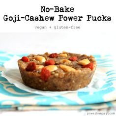 #45: No-Bake Goji-Cashew Power Pucks {vegan + gluten-free + fruit-sweetened}