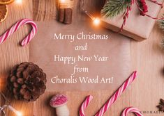 #christmaswish #christmaspostcard #merrychristmas #christmas2019 Merry Christmas And Happy New Year, Wood Art, Place Cards, Place Card Holders, Wooden Art
