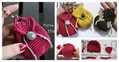 The Mini Backpack Keychain Free Crochet Pattern is very easy to make. It is fashionable and practical. Make one today with the free step by step video.