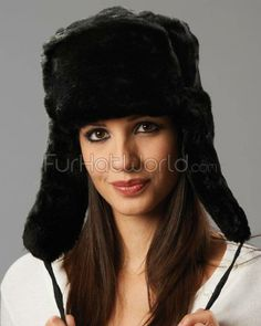 d86a4caa4a8 The Sochi Black Faux Fur Ladies Russian Hat with Badge