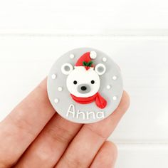 Nurse Name Badge - Polar Bear Polar Bear Names, Nurse Name Badge, Background Colour, Name Badges, Little Christmas, Colorful Pictures, Colorful Backgrounds, Bunny, Merry