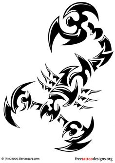 Tribal scorpio tattoo design