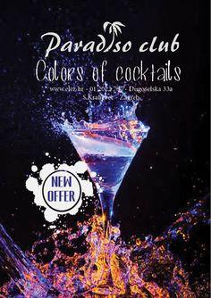 Ponuda koktela u Paradiso Club