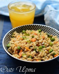 Oats Upma Recipe with Vegetables | Indian Oats Breakfast Recipes