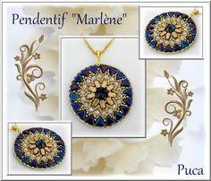 "Crafting Tutorials – Schéma Pendentif "" Marlène"" – a unique product by PUCA on DaWanda"
