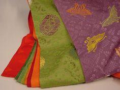 女房装束 袖  detail of layering