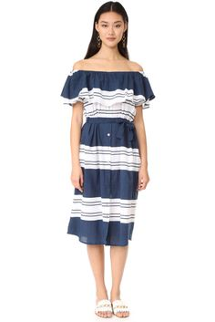 FAITHFULL THE BRAND Majorca Maxi Dress - Claremont Stripe.Shirtic fabric, made in Indonesia. http://shopstyle.it/l/uih