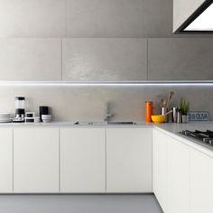 minimal kitchen - Interior Design - Home Decor - Simple Kitchen Design, Minimal Kitchen, Interior Design Kitchen, Kitchen Decor, Interior Ideas, Kitchen Cabinet Knobs, Kitchen Cabinets, Peninsula Kitchen Design, Estilo Colonial