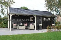 Cottage 300 x 350 + luifel 350 () Greenhouse Restaurant, Farmhouse Style, Garage Doors, Outdoor Decor, Garden Sheds, Home Decor, Gardening, Image, Gardens