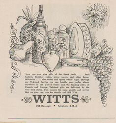 Witts advertisement, Minneapolis 1965. From the Hennepin History Museum collection.