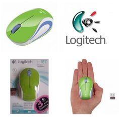 [BARATOMOB]Mouse Sem Fio M187 Verde - Logitech - R$ 26,99