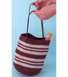 코바늘가방 / 배색이 심플하고 예쁜 코바늘 가방도안