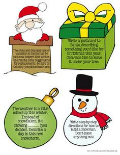 FREE winter writing prompts in color and black/white. These are great for writing workshop, centers, or fast finishers.