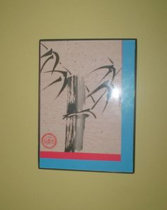 Bamboo Sumie Original Asian OOAK Painting by OrientalWhispers, $20.00