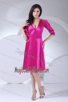 Buy puffy sleeves v neck wedding cocktail party dress in fuchsia from ladies cocktail dresses collection, v neck neckline a line in fuchsia color,cheap knee length dress with zipper back and for prom party cocktail party homecoming . Prom Dresses Uk, Dresses Short, Mothers Dresses, Bridesmaid Dresses, Party Dresses, Dresses 2013, Graduation Dresses, Dress Prom, Occasion Dresses