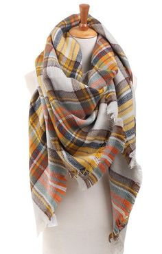 Plaid check tartan scarf