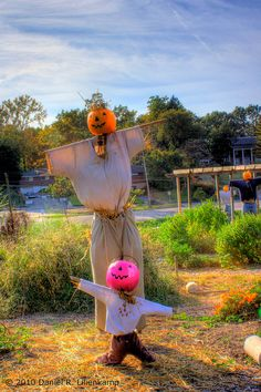 2010 Scarecrows at Wayside Community Garden, Normandy, Missouri by daniel.lilienkamp