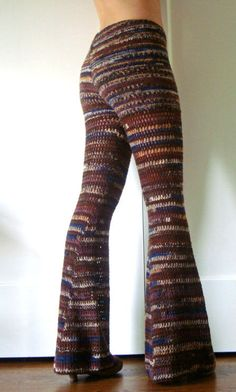 Etsy seller onceovertwice makes many variations of these great comfy-looking crochet pants.  pants inspiration