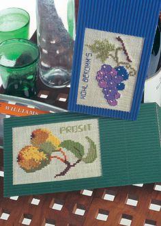 Wine Bottle Label Motifs, from Anchor/Coats.