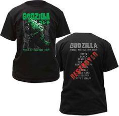 438cf426 Click to Buy << AUTHENTIC GODZILLA 5 WORLD DESTRUCTION TOUR MOVIE T SHIRT  MEN'S TEE SHIRT CUSTOMIZED COTTON T-SHIRT PLUS SIZE S3XL #Affiliate