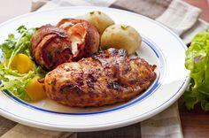 Kananpojan grillifileet ja pekoni-tomaattia