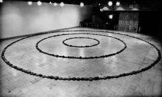 Richard Long THREE CIRCLES OF STONES HAYWARD GALLERY  LONDON  1972