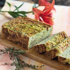 Prep Time: 10 Minutes | Baking Time: 60 MinutesMakes one loafLow in fat but packed with protein from the eggs, this courgette frittata loaf is ideal for the time-poor who want a quick, filling lunch. Make ahead then slice up and take to the office throughout the week.