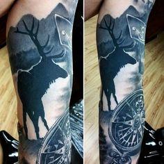 Tattoo Near The River Tattoo For Men On Arm   tatuajes | Spanish tatuajes  |tatuajes para mujeres | tatuajes para hombres  | diseños de tatuajes http://amzn.to/28PQlav