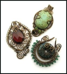 Broaches... I think pendants too with some creative claps