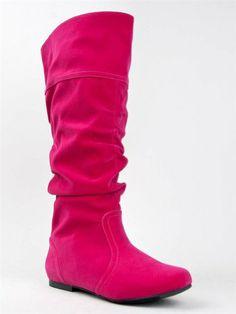 Qupid Neo-144 Women's Classic Slouchy Flat Boot - (FUCHSIA VELVET) - 5.5 Qupid,http://www.amazon.com/dp/B00GC7G57M/ref=cm_sw_r_pi_dp_Xj2Ysb1DFDHRDM7D