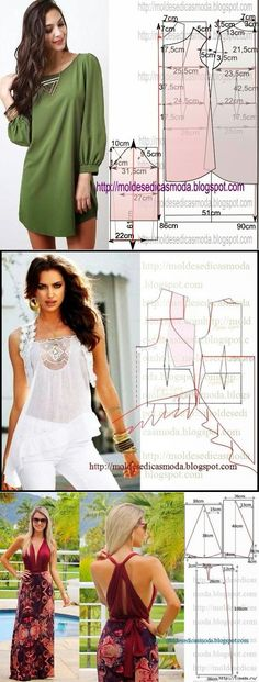 Amazing Sewing Patterns Clone Your Clothes Ideas. Enchanting Sewing Patterns Clone Your Clothes Ideas. Sewing Patterns Free, Clothing Patterns, Dress Patterns, Sewing Blouses, Diy Vetement, Make Your Own Clothes, Diy Clothing, Apparel Design, Simple Dresses