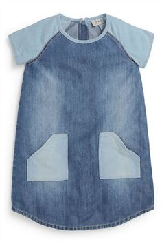 Buy Denim Mix Tunic from the Next UK online shop Diy Jeans, Sewing Jeans, Kids Clothes Uk, Diy Clothes, Toddler Denim Dress, Denim Ideas, Recycled Denim, How To Make Clothes, Cute Outfits For Kids