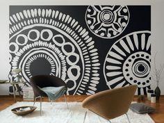 Ethno-Muster vornehmlich in Schwarz-Weiß werden zum Hingucker im Raum. Not bad