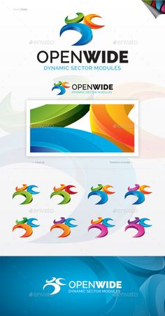 Open Wide  Logo Design Template Vector #logotype Download it here: http://graphicriver.net/item/open-wide-logo/10246332?s_rank=1577?ref=nesto