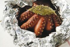 Amateur Cook Professional Eater - Greek recipes cooked again and again: Baked octopus in foil Octopus Recipes, Fish Recipes, Seafood Recipes, Cooking Recipes, Recipies, Mixed Seafood Recipe, Healthiest Seafood, Greek Cooking, Food Categories