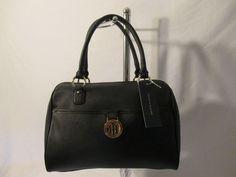 New Handbag Tommy Hilfiger Purse Satchel Color Black Style 6955671 990 #TommyHilfiger #Satchel