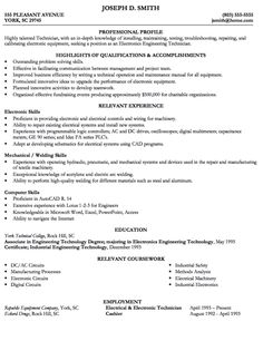 example of engineering tech resume httpexampleresumecvorgexample - Sample Engineering Technician Resume