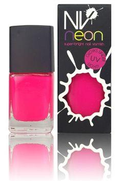 NV Florescent Neon Nail Polish - Hot Pink  £11.00  www.ezebeauty.co.uk