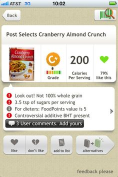A really great app to see what you're REALLY eating.